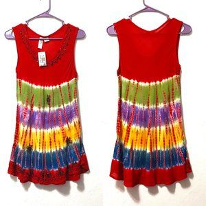 India Boutique Embroidered Tank New